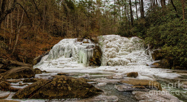 Photograph - Frozen Falls At Turtletown Creek by Barbara Bowen