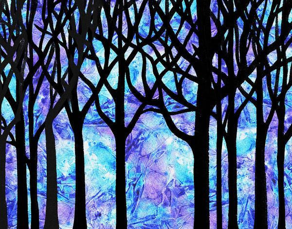 Into The Woods Wall Art - Painting - Frozen Forest by Irina Sztukowski