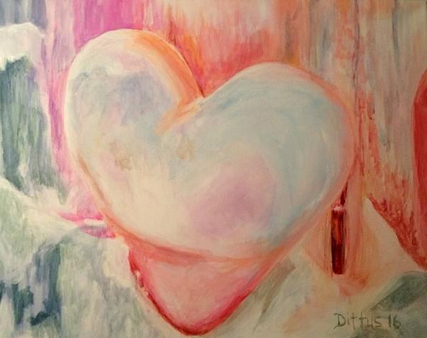 Wall Art - Painting - Frozen Heart by Chrissey Dittus