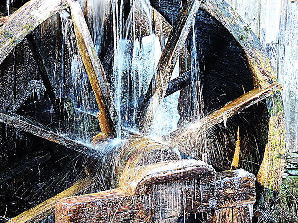 Rader Photograph - Frozen - John P. Cable Grist Mill by Roe Rader
