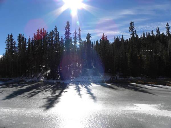 Photograph - Sun Reflecting Kiddie Pond Divide Co by Margarethe Binkley