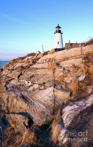 Photograph - Frozen Ledge And Pemaquid Lighthouse, Bristol, Maine  -81378 by John Bald