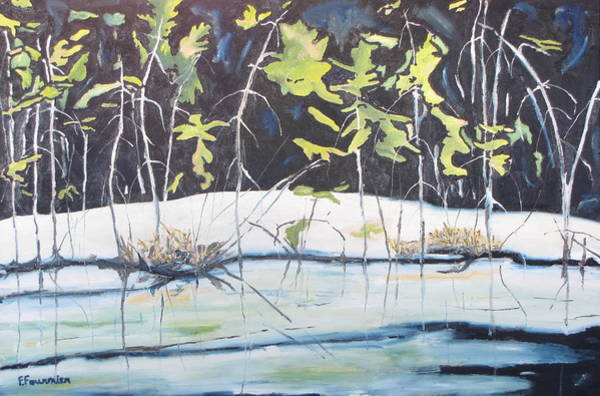 Wall Art - Painting - Frozen Marsh by Francois Fournier