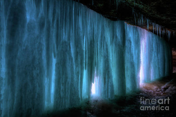 Photograph - Frozen Minnehaha Falls Minneapolis IIi by Wayne Moran