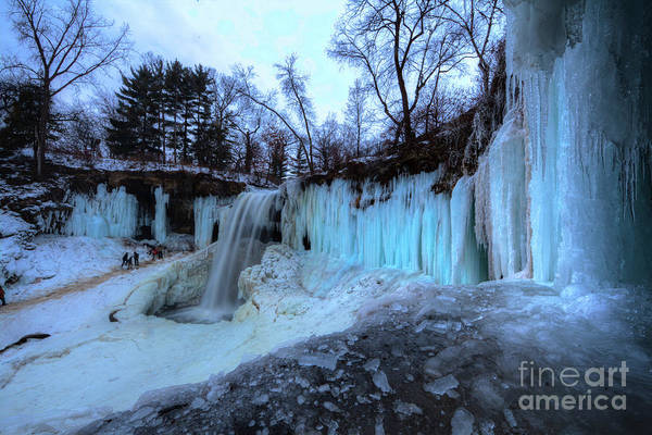 Photograph - Frozen Minnehaha Falls Minneapolis Iv by Wayne Moran