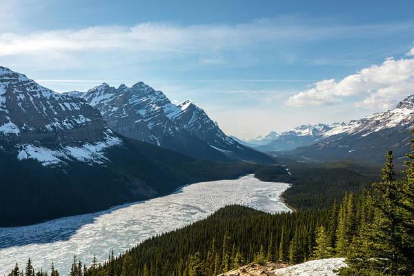 Photograph - Frozen Peyto Lake by M C Hood