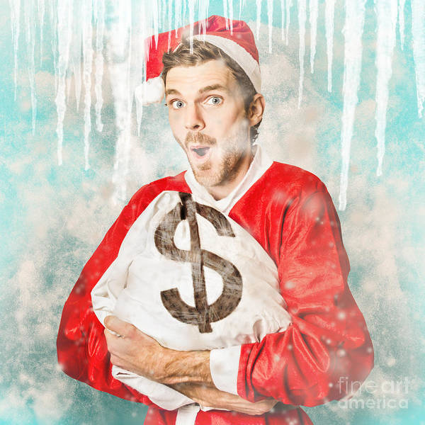 Wall Art - Photograph - Frozen Santa Saving With Ice Cold Price Drop by Jorgo Photography - Wall Art Gallery