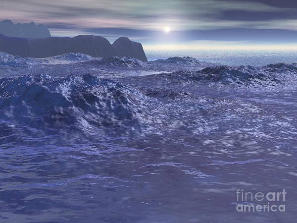 Urban Legend Digital Art - Frozen Sea Of Neptune by Phil Perkins