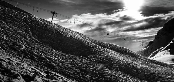 Photograph - Frozen Wasteland At Ski Piste by Alexandre Rotenberg