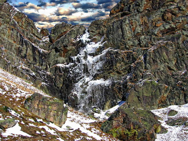 Photograph - Frozen Waterfall Scene by Anthony Dezenzio