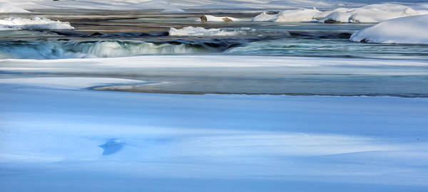 Photograph - Frozen Winter River by Bill Wakeley