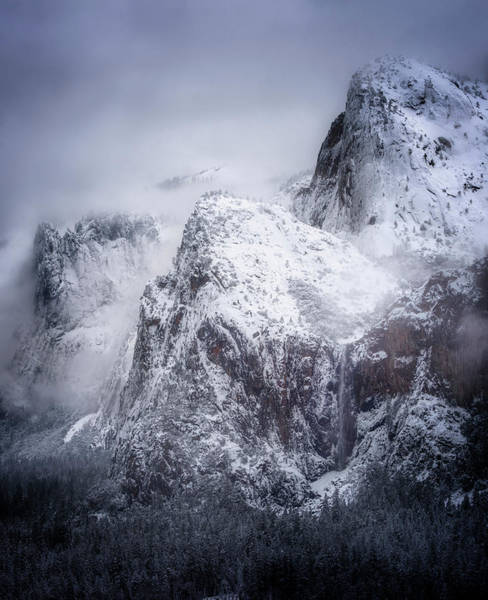 First Snowfall Wall Art - Photograph - Frozen Yosemite by Nicki Frates