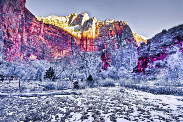 Chs Digital Art - Frozen Zion by Ches Black