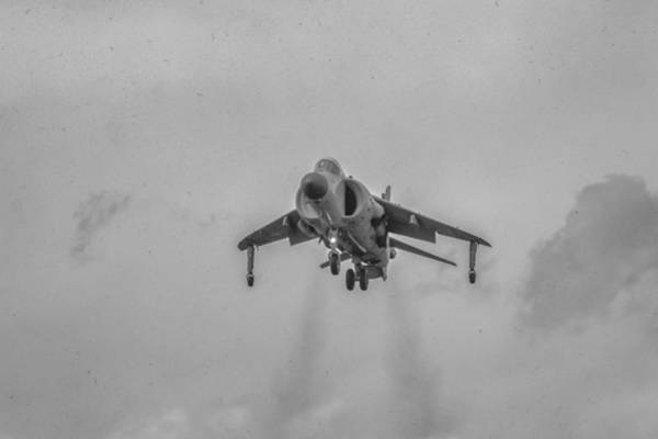 Photograph - Frs1 Sea Harrier Landing by Guy Whiteley