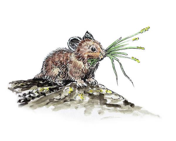 Painting - Frugal Mr Mouse  by Irina Sztukowski