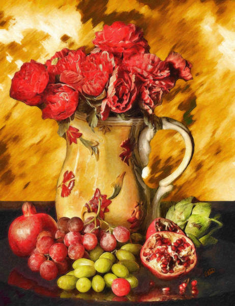 Painting - Fruit And Roses Stl565482 by Dean Wittle