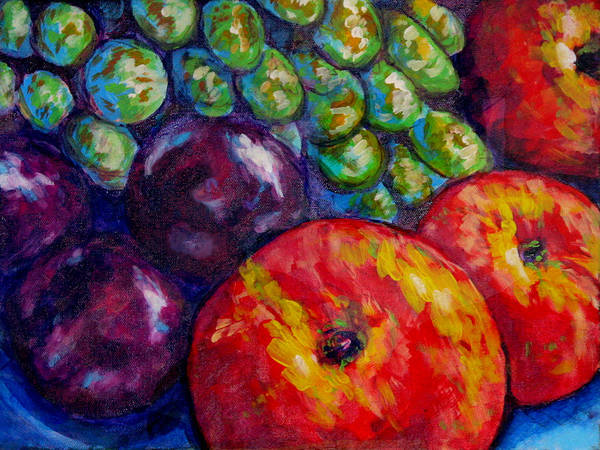 Manzana Wall Art - Painting - Fruit Assembly With Apples by Laura Heggestad