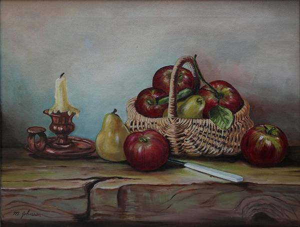Painting - Fruit Basket - Lmj by Ruth Kamenev
