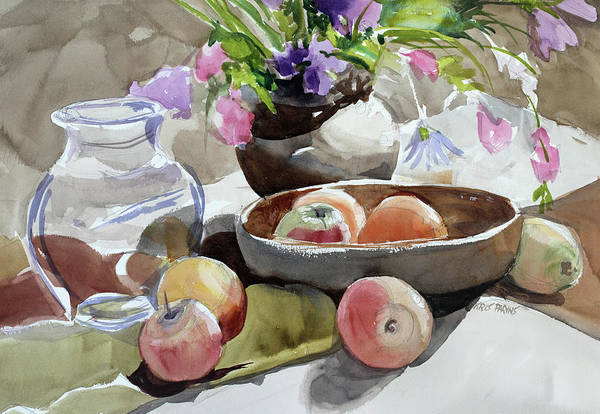 Wall Art - Painting - Fruit Bowl by Kris Parins