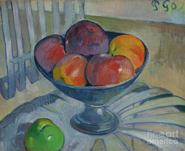 Painting - Fruit Dish On A Garden Chair by Paul Gauguin