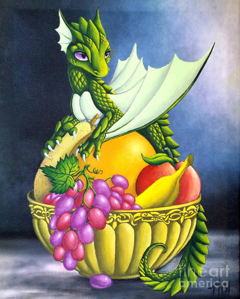 Painting - Fruit Dragon by Mary Hoy