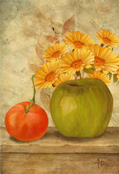 Painting - Fruit In The Sun by Angeles M Pomata