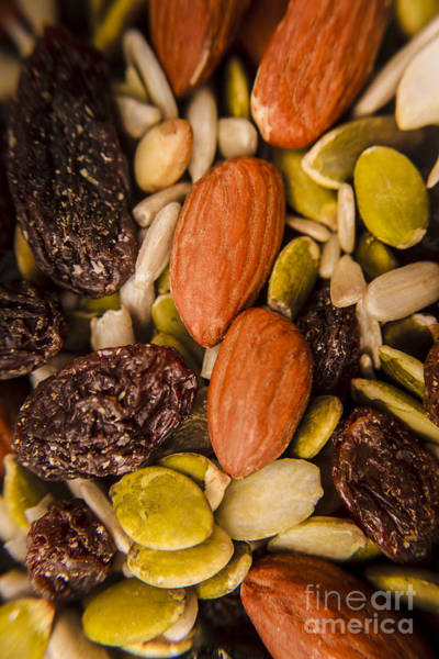 Protein Wall Art - Photograph - Fruit Nut And Seed Snack Mix by Jorgo Photography - Wall Art Gallery