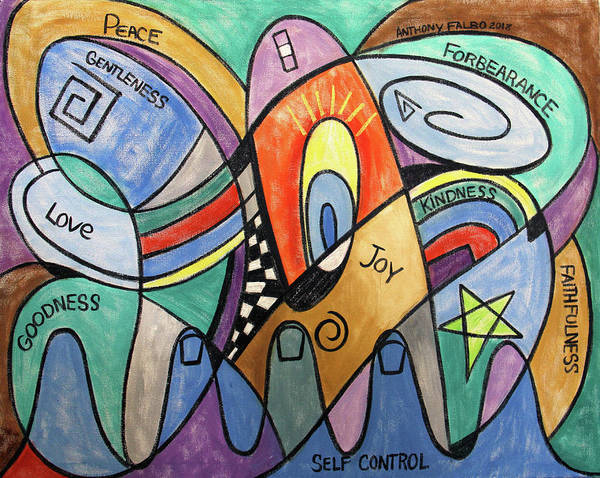 Wall Art - Painting - Fruit Of The Spirit Galatians 5-22-23 by Anthony Falbo