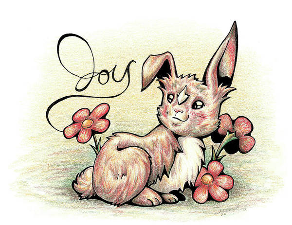 Furry Drawing - Inspirational Animal Bunny by Sipporah Art and Illustration