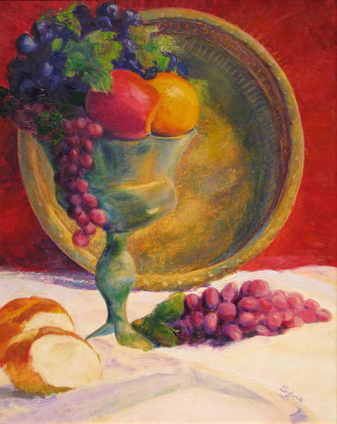 Wall Art - Painting - fruit of the Vine by Sylvia Carlton