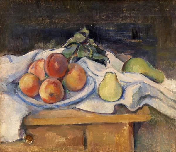 Apple Peel Wall Art - Painting - Fruit On A Table by Paul Cezanne