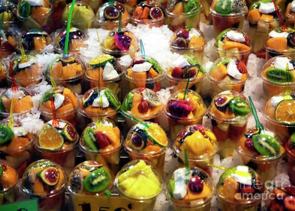 Photograph - Fruit Snacks At La Boqueria In Barcelona by John Rizzuto