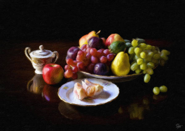 Photograph - Fruit Still Life Faux Plen Aire by Endre Balogh