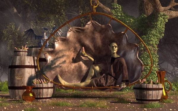 Digital Art - Fruit Vendor At The Goblin Market by Daniel Eskridge