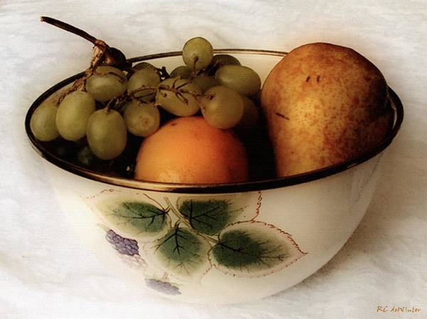 Painting - Fruitbowl Retro by RC DeWinter