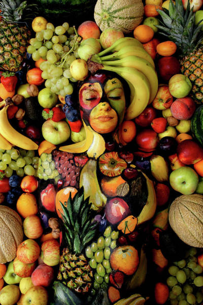 Bodypaint Wall Art - Painting - Fruits by Johannes Stoetter