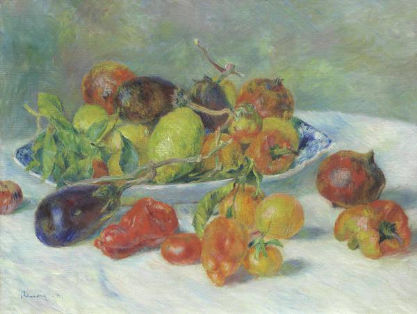 Aubergine Wall Art - Painting - Fruits Of The Midi by Pierre Auguste Renoir