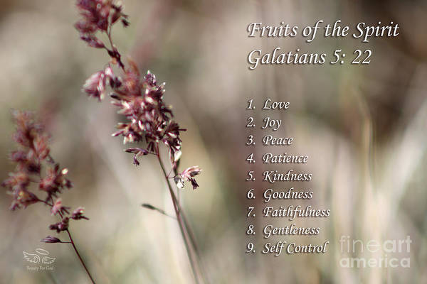 Photograph - Fruits Of The Spirit by Beauty For God