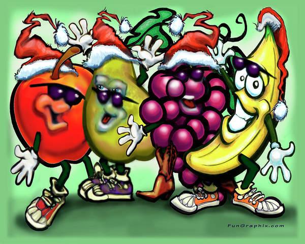 Digital Art - Fruity Christmas by Kevin Middleton