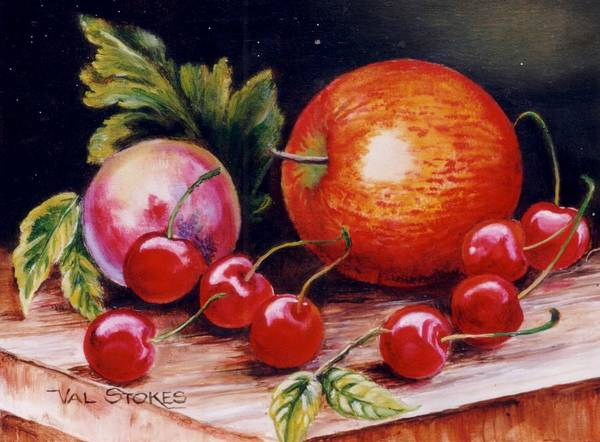 Painting - Fruity Medley by Val Stokes