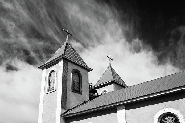 Photograph - Ft Garland Church - Black And White by John McArthur