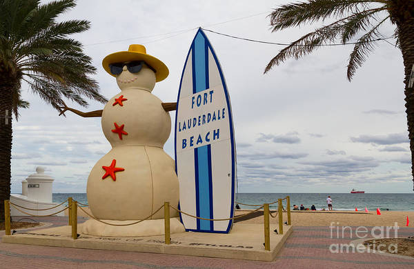 Photograph - Ft Lauderdale Beach Mascot  by Les Palenik
