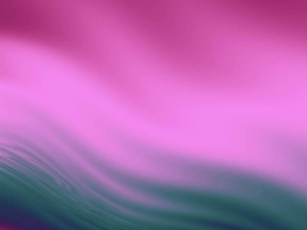 Wall Art - Digital Art - Fuchsia And Sea Blue Waves by Rich Leighton