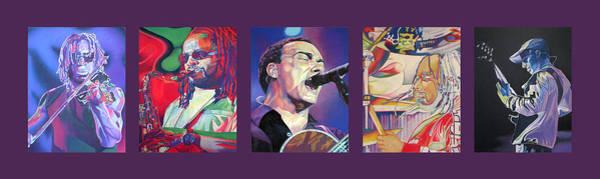 Wall Art - Drawing - Dave Matthews Band -full Band Set by Joshua Morton