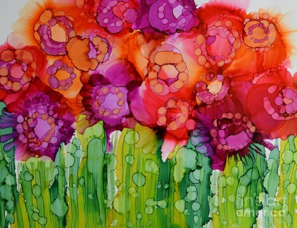 Full Bloom Painting - Full Bloom by Beth Kluth