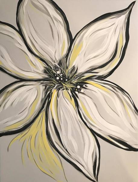 Wall Art - Painting - Full Bloom Flower by Willy Proctor