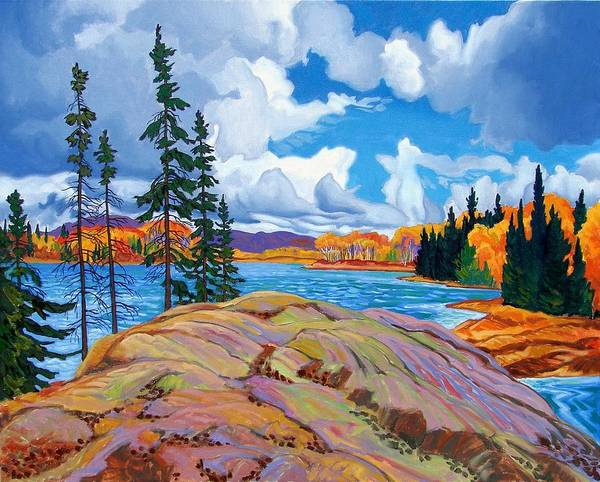 Wall Art - Painting - Full Color Algonquin Park by Paul Gauthier