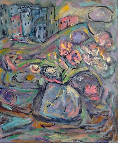 Painting - Full Color City Bloom by Katt Yanda