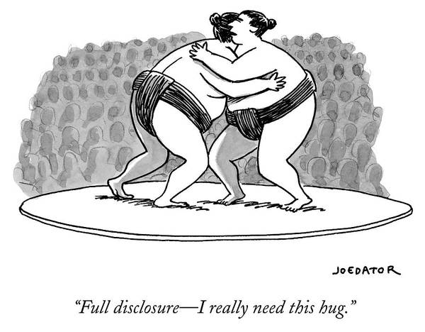 Competition Drawing - Full Disclosure, I Really Need This Hug by Joe Dator