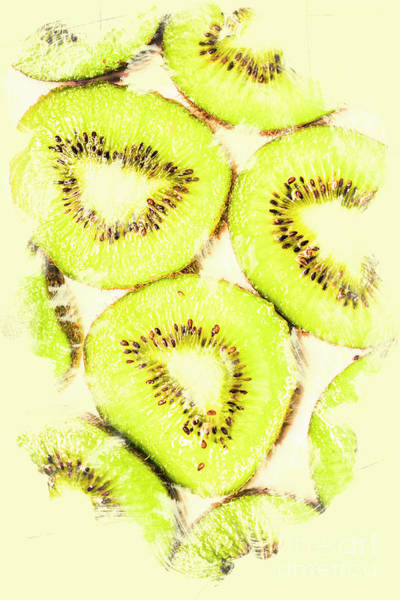 Kiwifruit Photograph - Full Frame Shot Of Fresh Kiwi Slices With Seeds by Jorgo Photography - Wall Art Gallery
